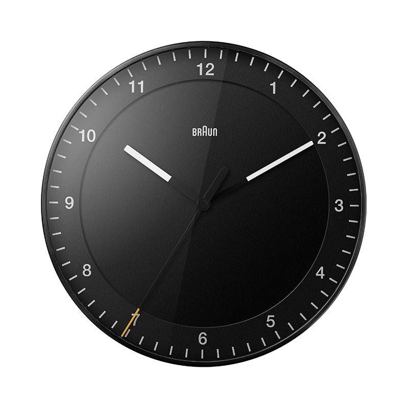 BRAUN BC17B WALL CLOCK BLACK