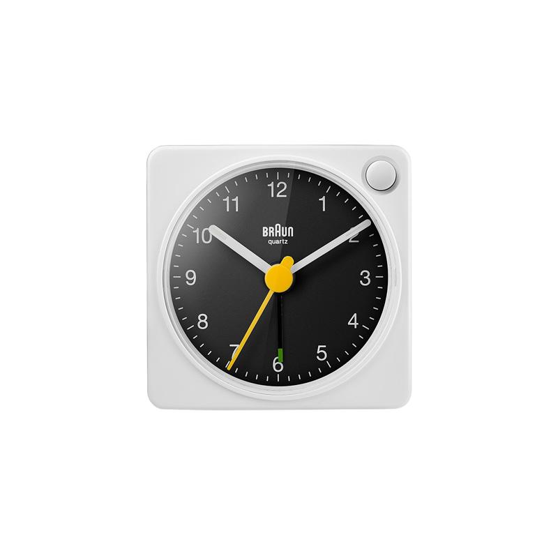 BRAUN BC02XWB ALARM CLOCK WHITE BLACK