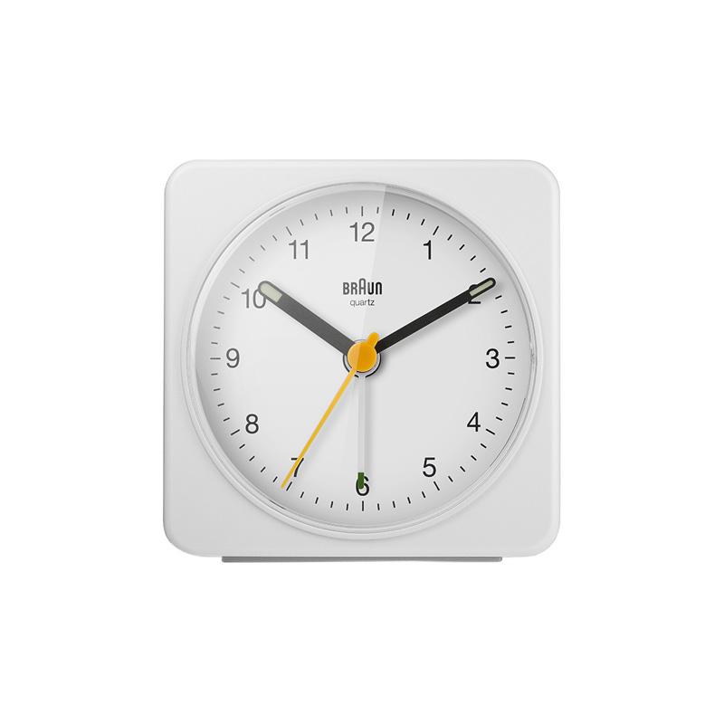BRAUN BC03W ALARM CLOCK WHITE