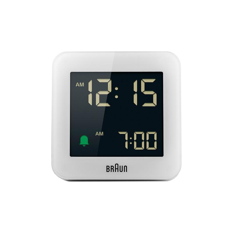 BRAUN BC09W DIGITAL CLOCK WHITE