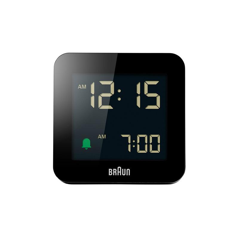 BRAUN BC09B DIGITAL CLOCK BLACK