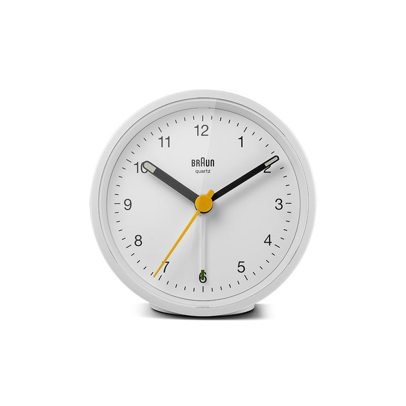 BRAUN BC12W ALARM CLOCK WHITE