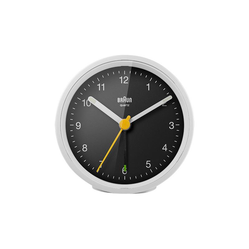 BRAUN BC12WB ALARM CLOCK WHITE BLACK