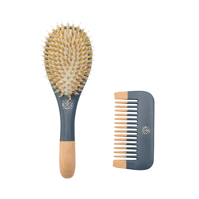 BACHCA HAIR BRUSH & COMB SET NAVY