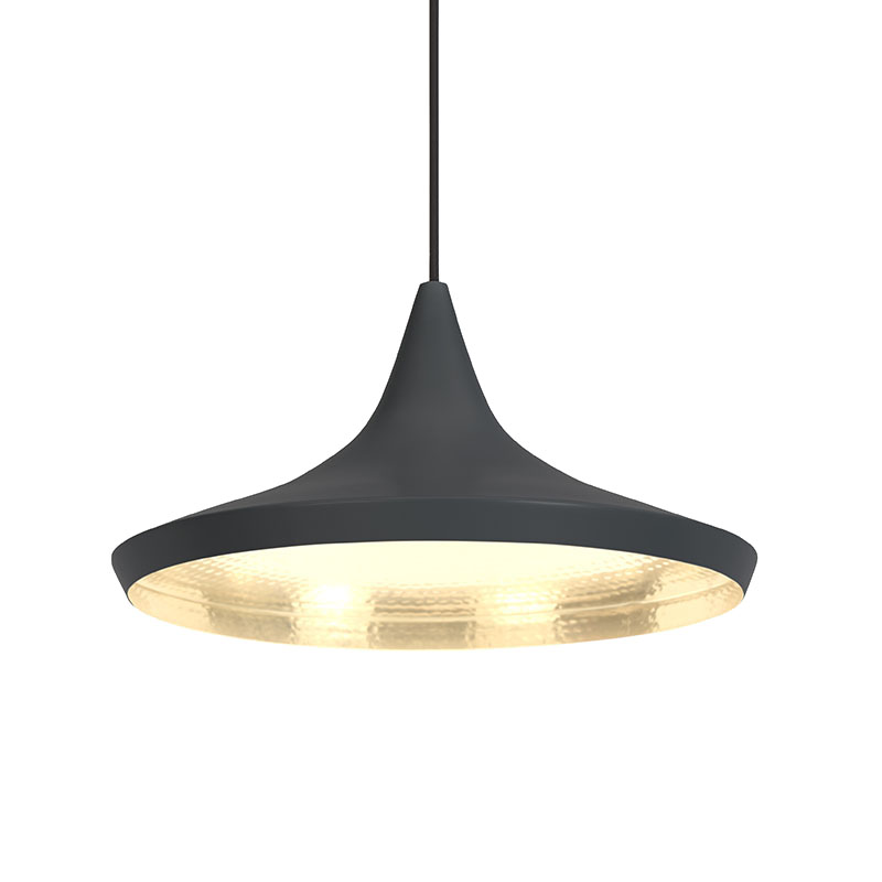 BEAT WIDE PENDANT BLACK