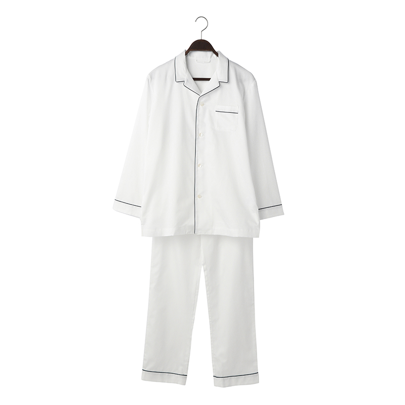 ORIGINAL COTTON SATIN PYJAMA M WHITE