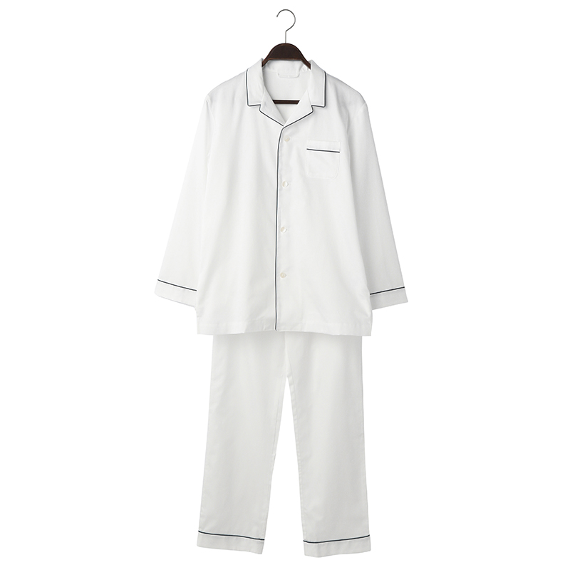 ORIGINAL COTTON SATIN PYJAMA L WHITE
