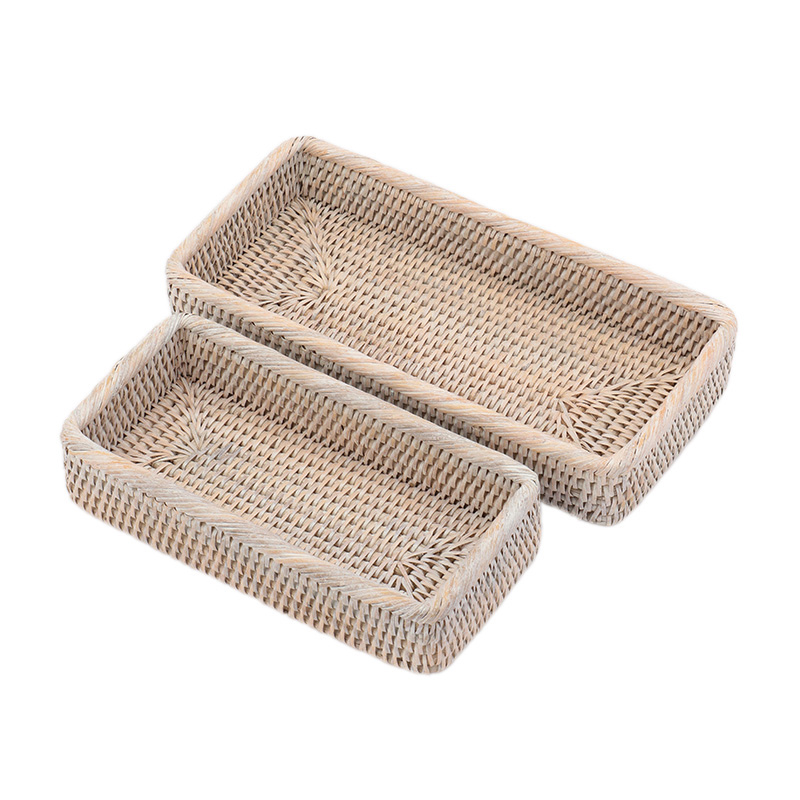 BAOLGI/BATHROOM BASKETS SET OF 2 WHITE
