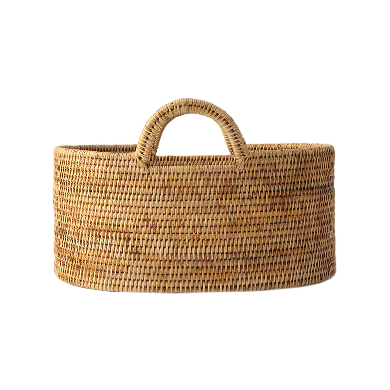 BAOLGI/OVAL BASKETS WITH HANDLES NATURAL S