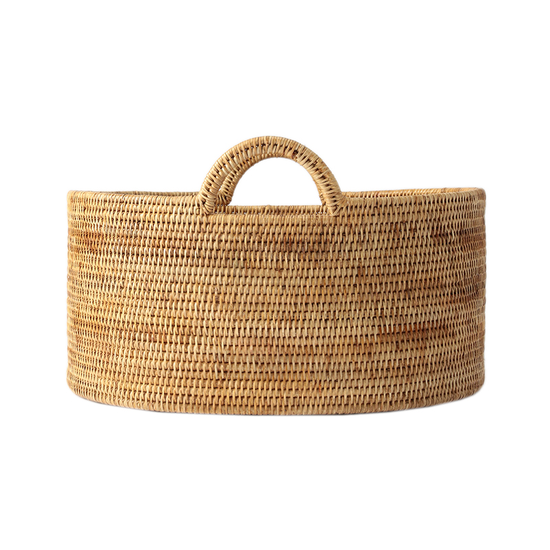 BAOLGI/OVAL BASKETS WITH HANDLES NATURAL M