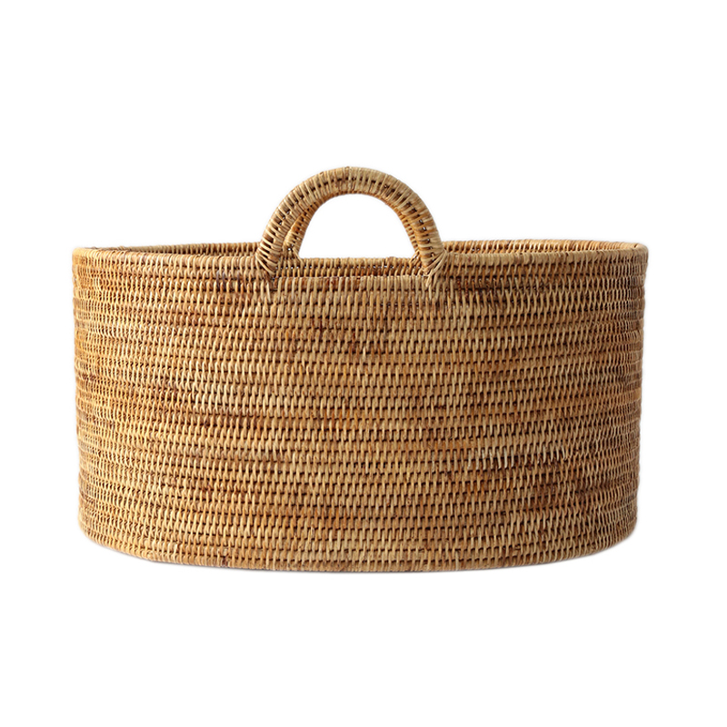 BAOLGI/OVAL BASKETS WITH HANDLES NATURAL L