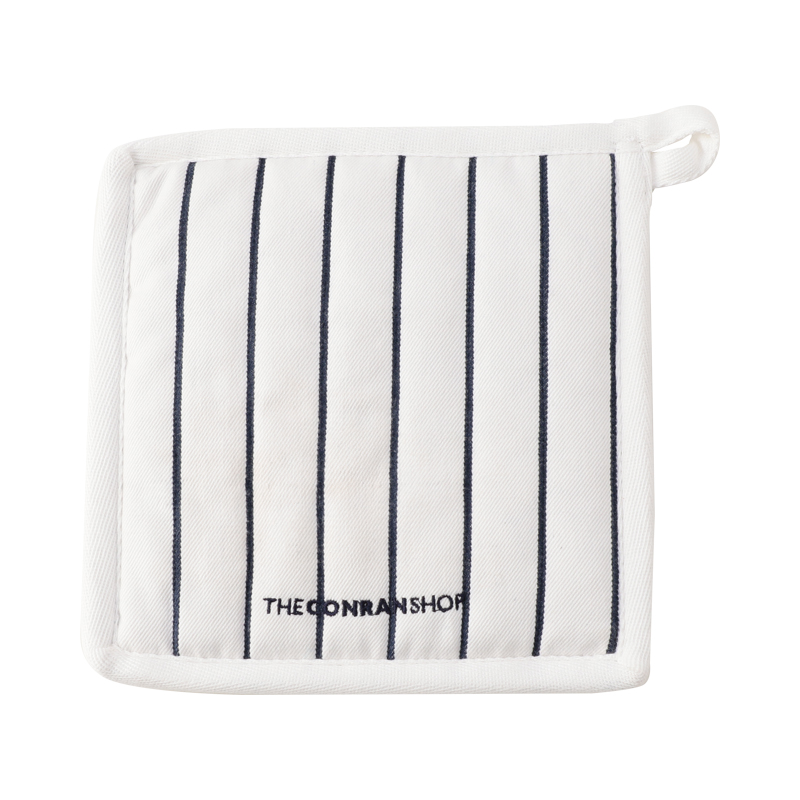BUTCHER STRIPE POT HOLDER 20X20 WHITE