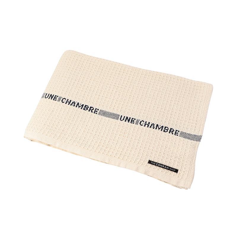 WAFFLE BLANKET UNE CHAMBRE 150X210 BEIGE