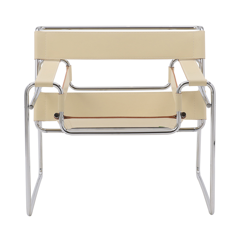 WASSILY LOUNGE CHAIR COWHIDE WHITE.BEIGE