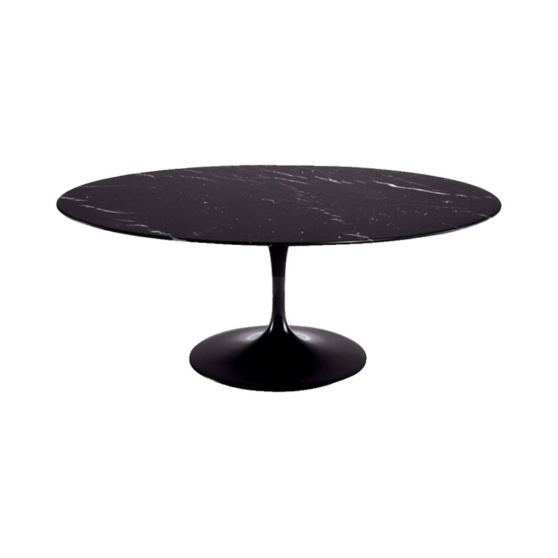 162TOMN1 SAARINEN OVAL COFFEE TABLE NERO MARQUINA