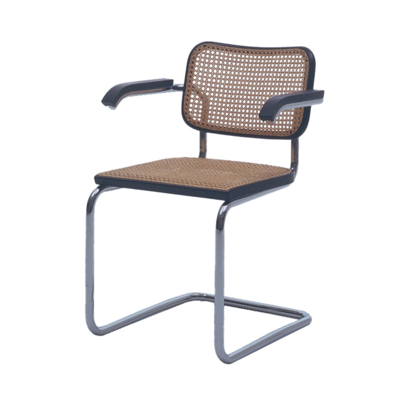 CESCA CHAIR ARM MACH.WOVEN CANE BLACK