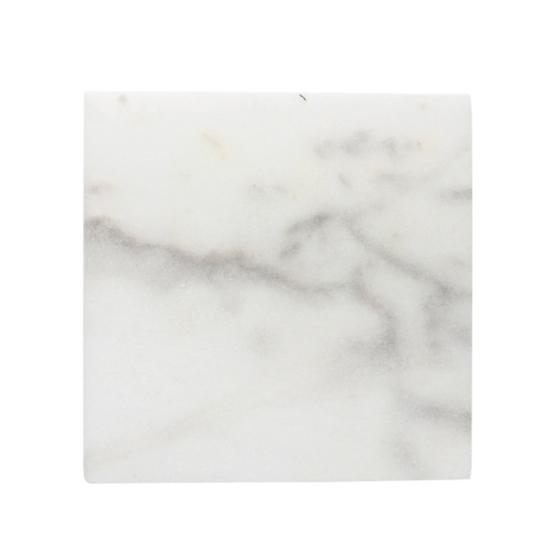 WHITE MARBLE SERVING BOARD 30X30CM