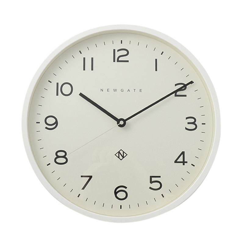 NEWGATE NUMBER THEREE ECHO CLOCK WHITE
