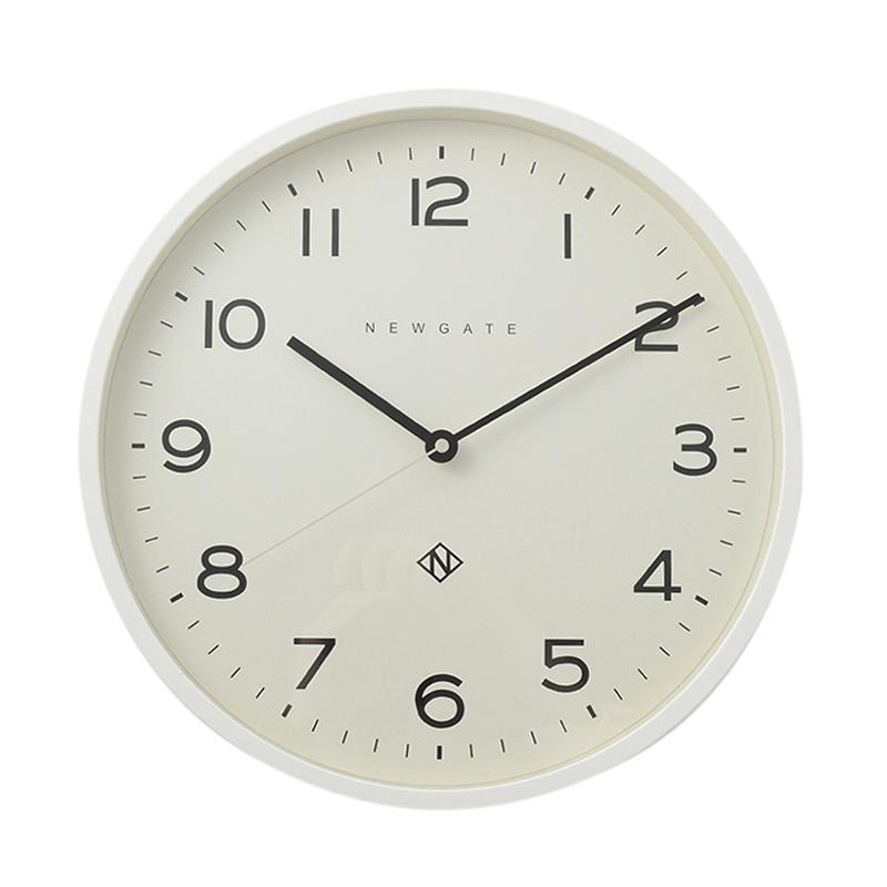 NEWGATE NUMBER THREE ECHO CLOCK WHITE