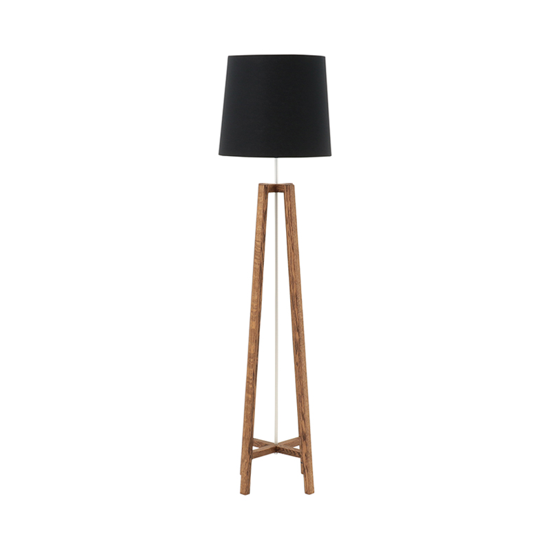 CROSS FLOOR LIGHT STAND DARK SHADE BLACK
