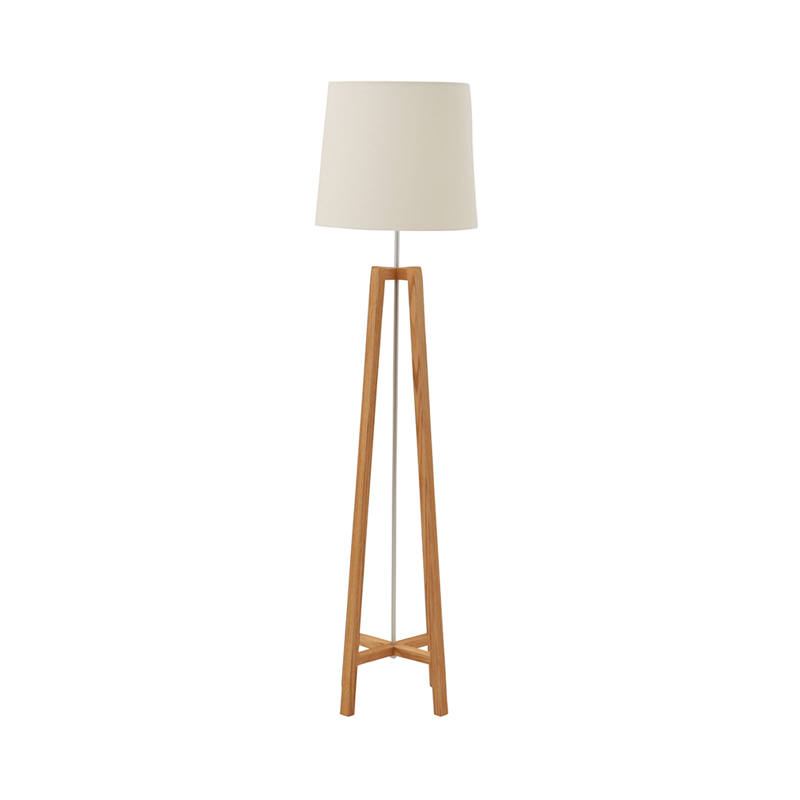 CROSS FLOOR LIGHT STAND NATURAL SHADE WHITE