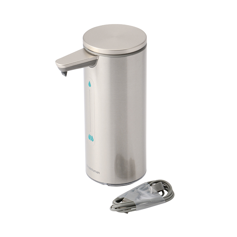 SIMPLEHUMAN SENSOR SOAP DISPENSER SILVER 266ML