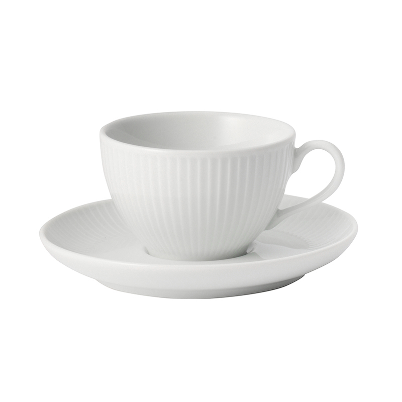 PLISSE TEA CUP&SAUCER 180ML