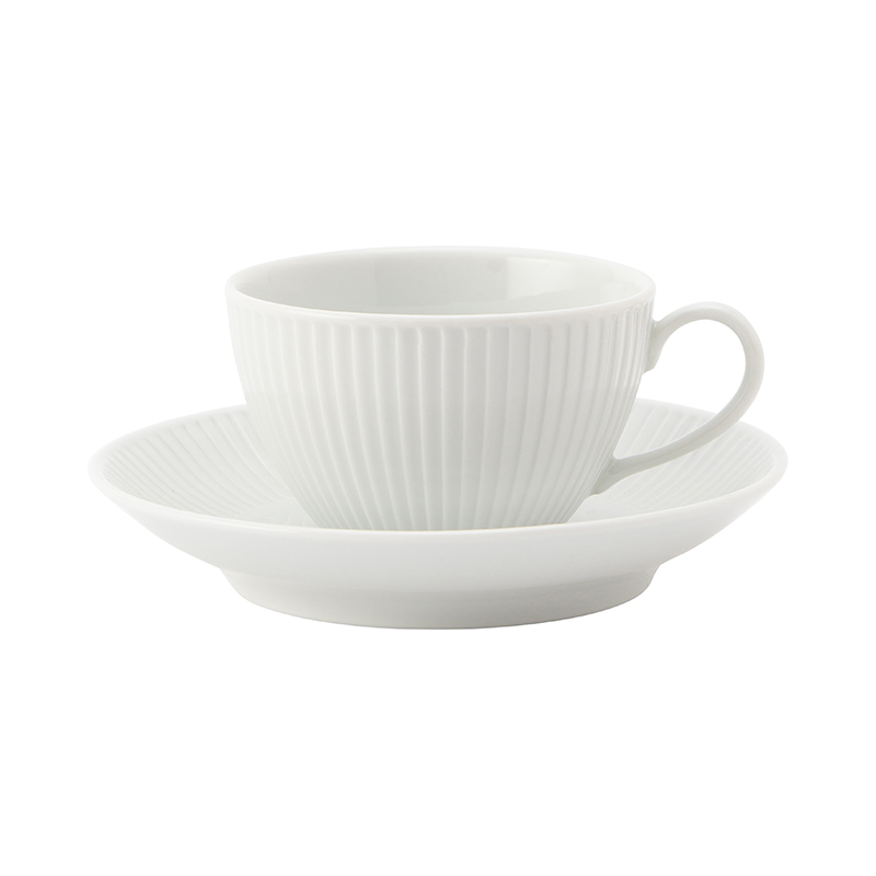 PLISSE BREAKFAST CUP&SAUCER 290ML