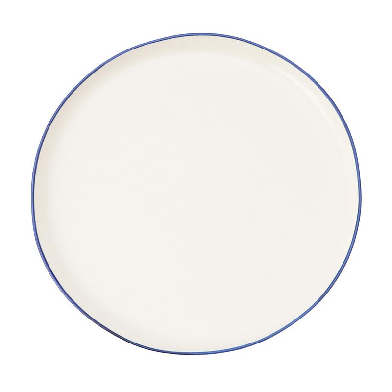 ABBESSES PLATE BLUE 27CM