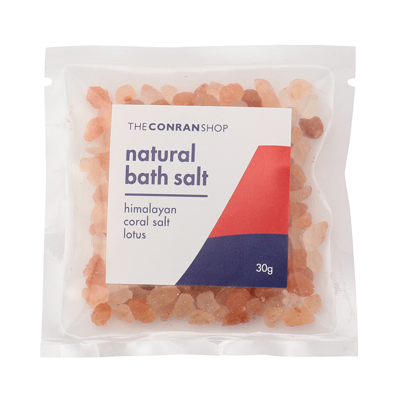 NATURAL BATH SALT 30G CORAL LOTUS