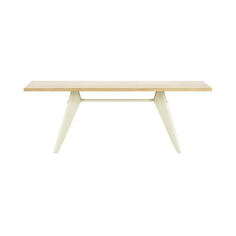 EM TABLE L2000 NATURAL SOLID OAK / ECRU BASE