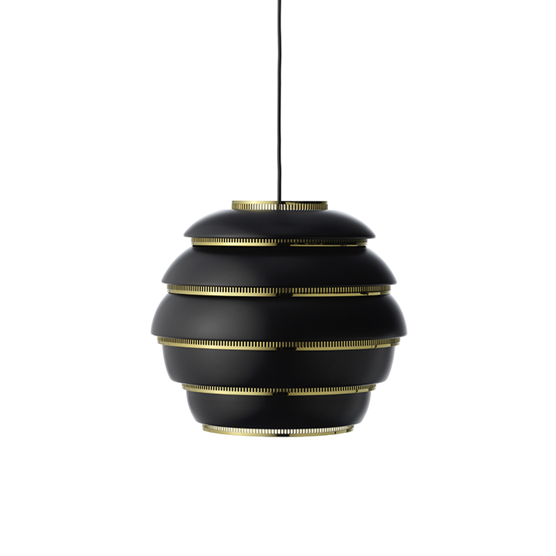 A331 PENDANT LAMP BEEHIVE BLACK/BRASS