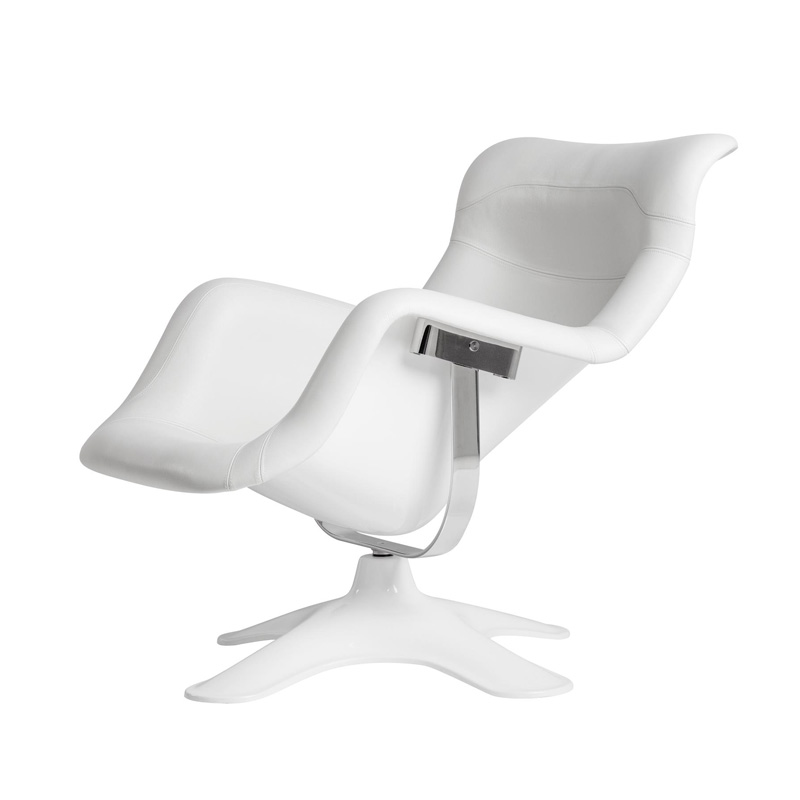 KARUSELLI LOUNGE CHAIR WHITE LEATHER