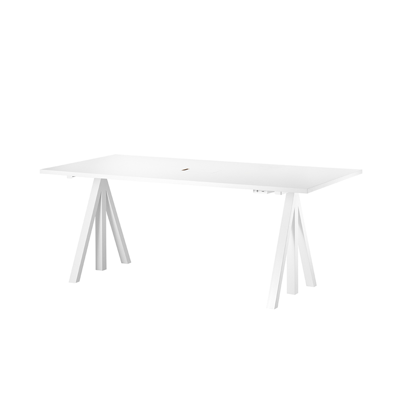 WORKS DESK WHITE LAMINATE 1800×900