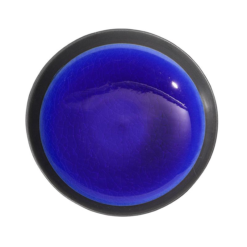 DEEP PLATE BLACK/RURI 16CM
