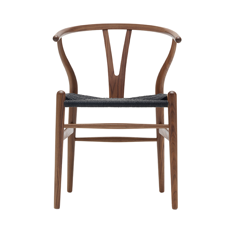 CH24 Y CHAIR WALNUT OIL BLACK SEAT