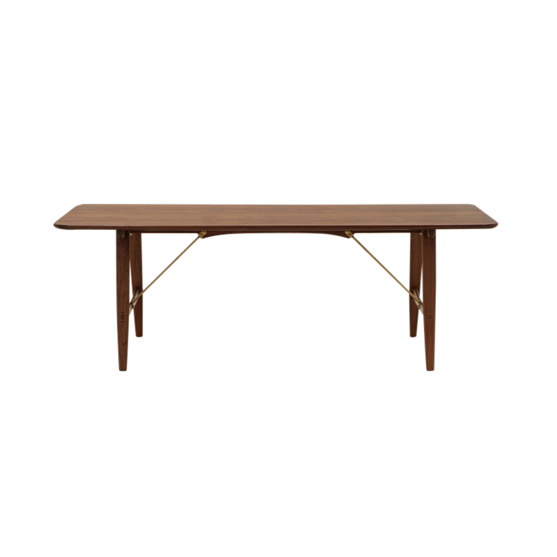 BM1160 HUNTING TABLE WALNUT/OIL/BRASS