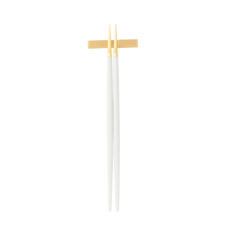 GOA WHITE MATTE GOLD CHOPSTICK SET