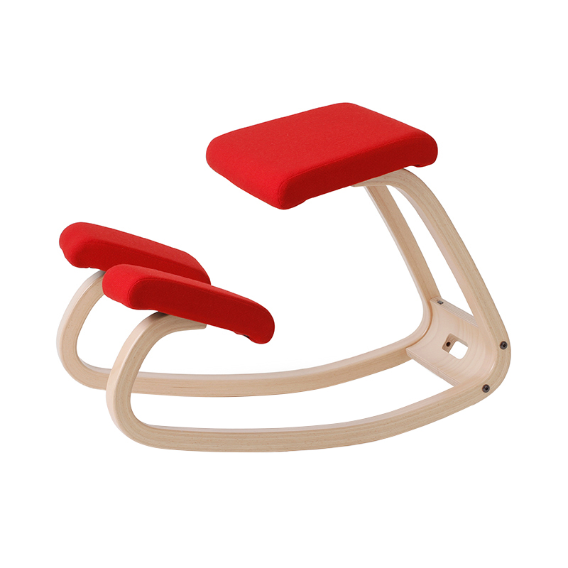 VARIABLE BALANCE CHAIR NATURAL/RED