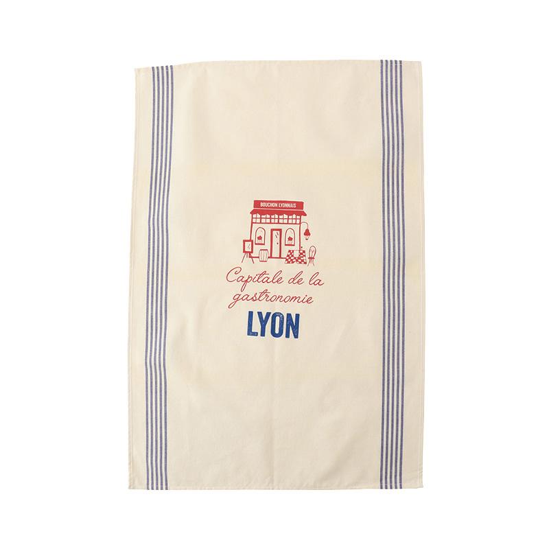 TISSAGE DE L'OUEST TEA TOWEL LYON GASTRONOMY