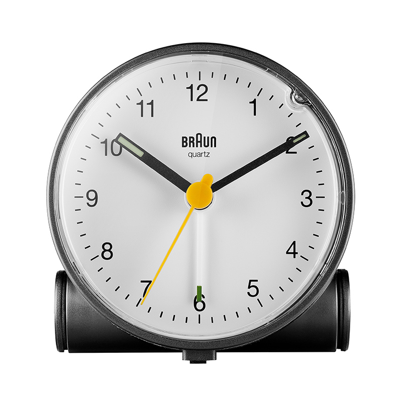 BRAUN BC01BW ANALOGUE ALARM CLOCK