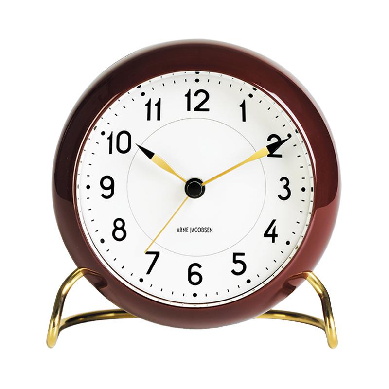 ARNE JACOBSEN T.CLOCK  STATION  LMT BURGUNDY