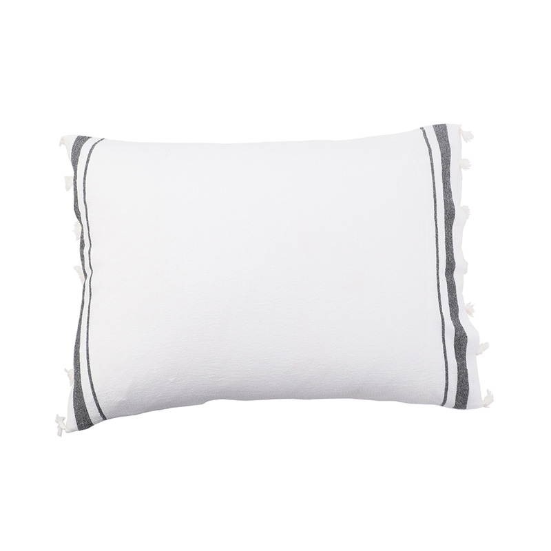 TASSEL PILLOW CASE  WHITE