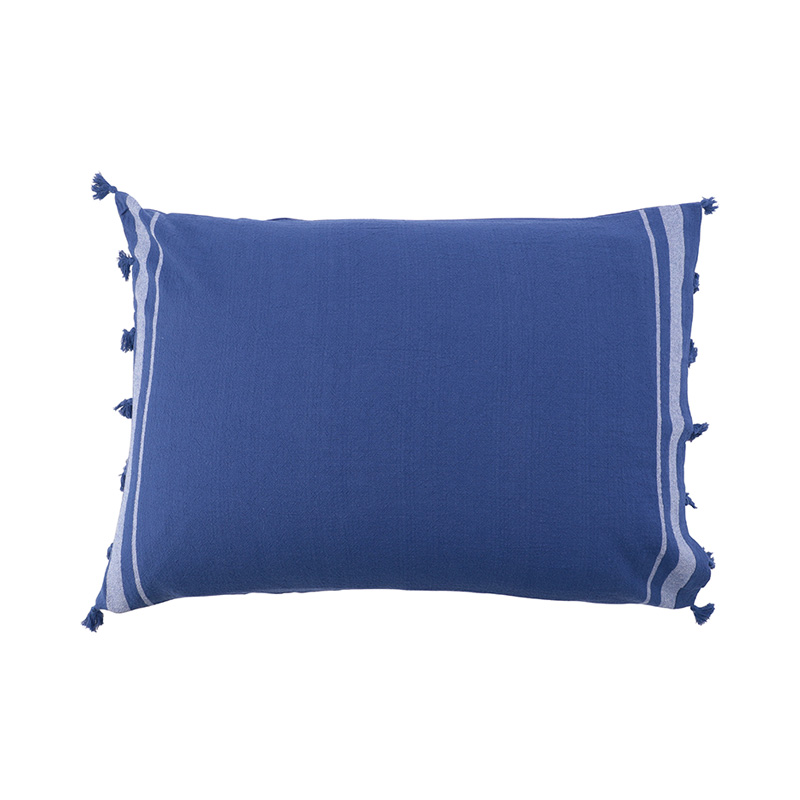 TASSEL PILLOW CASE  BLUE