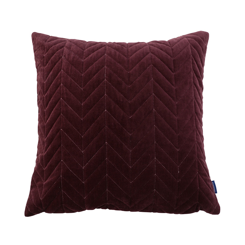 ORIGINAL VIJAY CUSHION COVER HERINGBONE / AUBERGINE