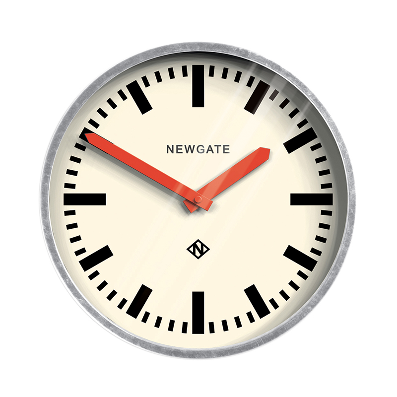 NEWGATE LUGGAGE CLOCK GALVANIZED RED