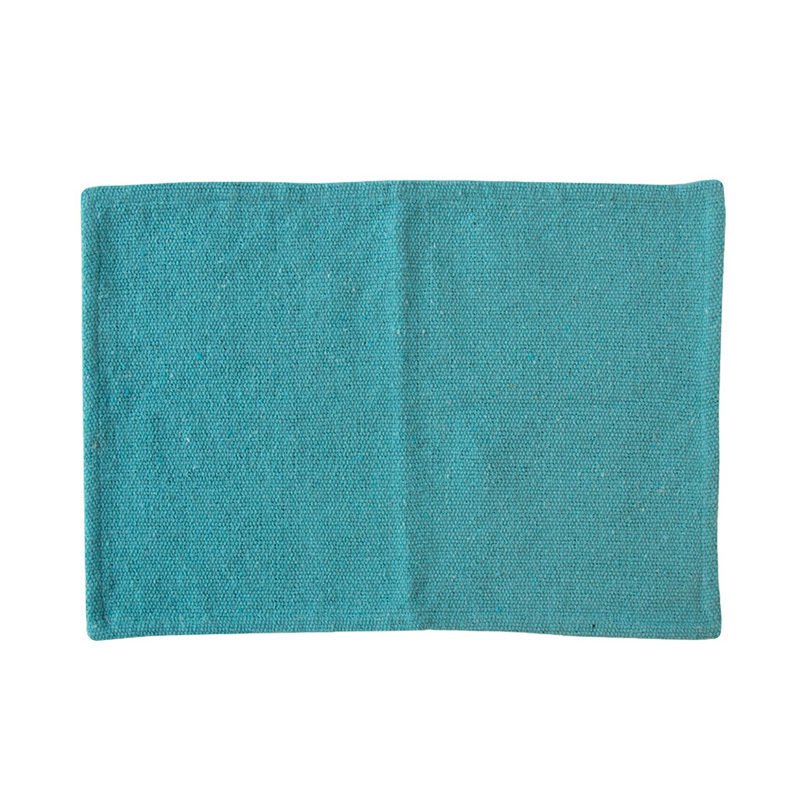 UNC PLACEMAT RECYCLED COTTON CANAL BLUE