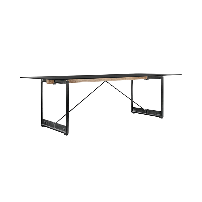 BRUT TABLE 260x85 BLACK STEEL/GREY