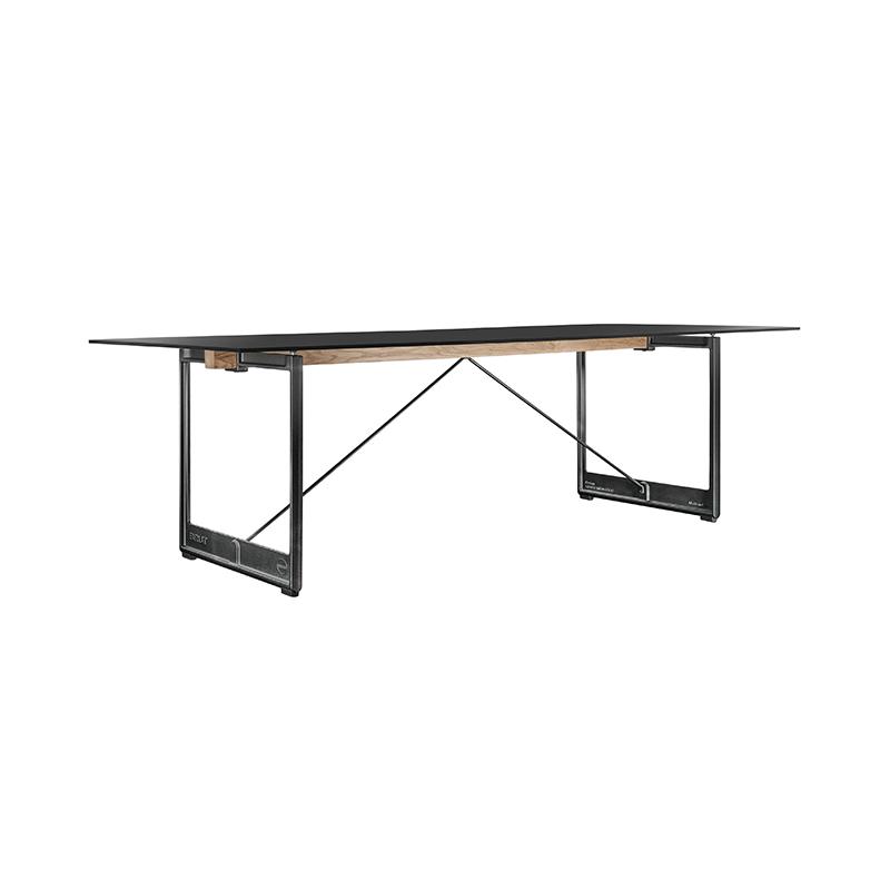 BRUT TABLE 260x85 BLACK STEEL/GREY