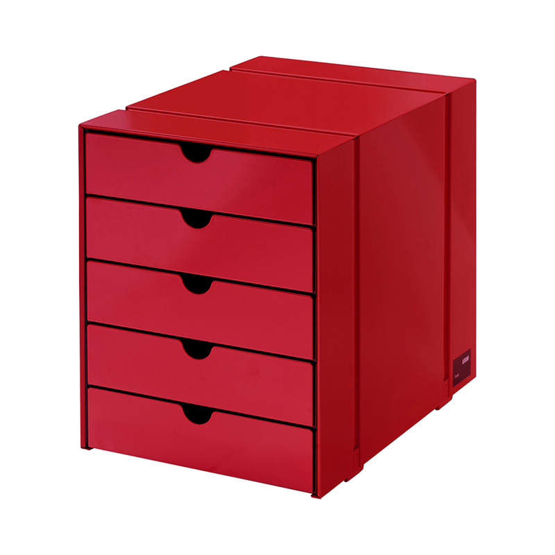 USM INOS BOX SET C4 5DRAWERS USM RUBY RED